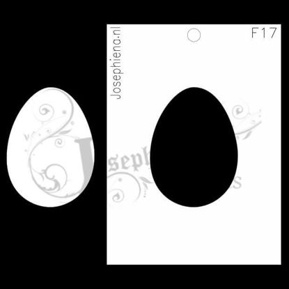 Ei - figuur-stencil van Josephiena`s Design