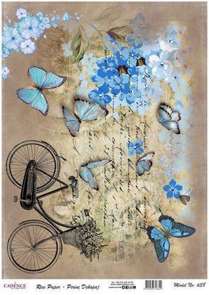 bicycle / butterflies - Cadence ricepaper