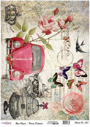 VW beetle - roses