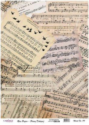 vintage stukken bladmuziek
