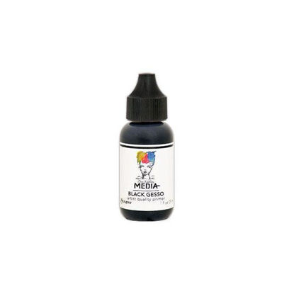 Dina Wakley Media Gesso Black 1 oz