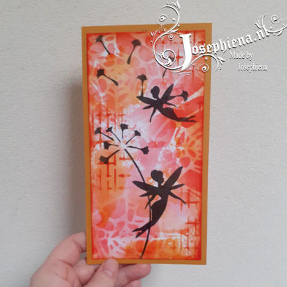 Card: Silhouette Autumn Fairy