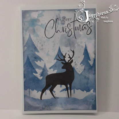Card: Silhouette Blue Deer