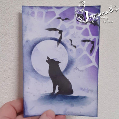 Card: Silhouette Blue/Purple Wolf