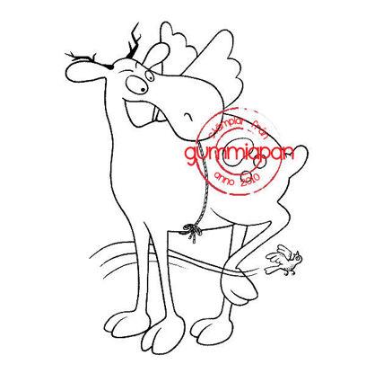 Picture of Angel Deer -stempel met stans - Gummiapan - (normaal €10,90)