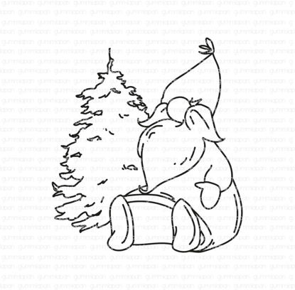 Kerstman met kerstboom