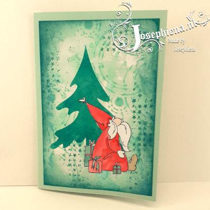 Kaart: Kerstman bij de Kerstboom