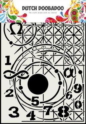 Dutch Doobadoo Mask Art Meetkunde A4