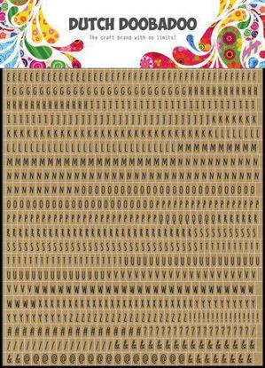 Dutch Doobadoo Dutch Sticker Art A5 Alphabet