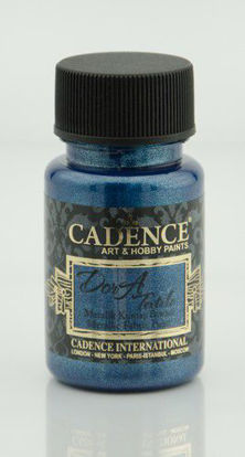 Cadence Dora metallic textiel verf Sax blauw