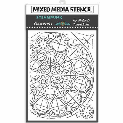 Stamperia Thick Stencil 15X20cm Sir Vagabond Geometry