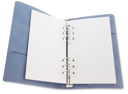 CraftEmotions Ringbinder Planner - for paper 120x210mm - Jeans Light Blue
