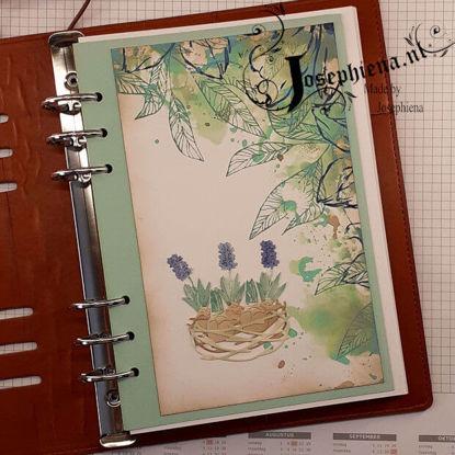 Art journal: Nest met Hyacinten gemaakt door Josephiena