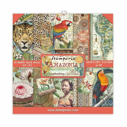 Stamperia Amazonia 8x8 Inch Paper Pack