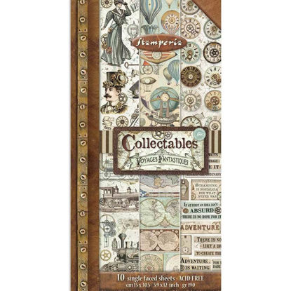 Stamperia Collectables Voyages Fantastiques 6x12 Inch Paper Pack