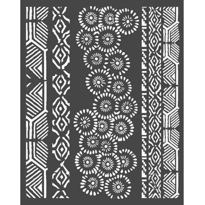 Stamperia Thick Stencil 20x25 cm Amazonia Tribals