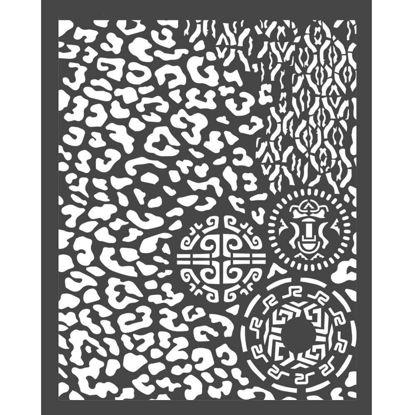 Stamperia Thick Stencil 20x25cm Amazonia Animalier with Tribals