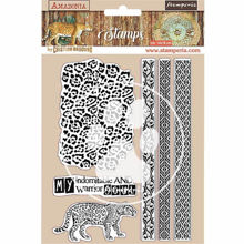 Stamperia Natural Rubber Stamp Amazonia Tribals