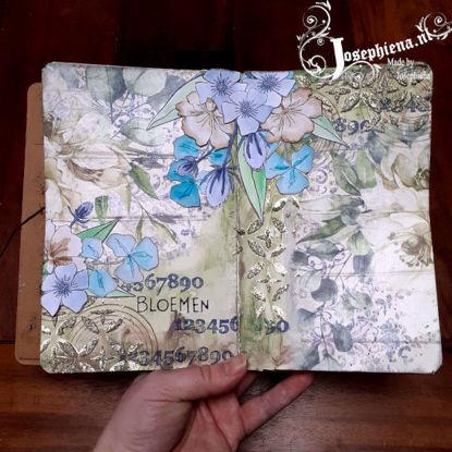Art journal: Bloemen gemaakt door Josephiena