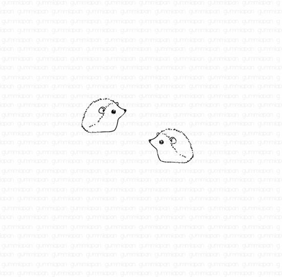 Picture of little hedgehogs - stamp - Gummiapan