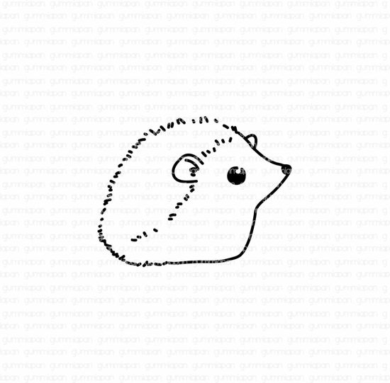 Picture of Hedgehogs - stamp - Gummiapan