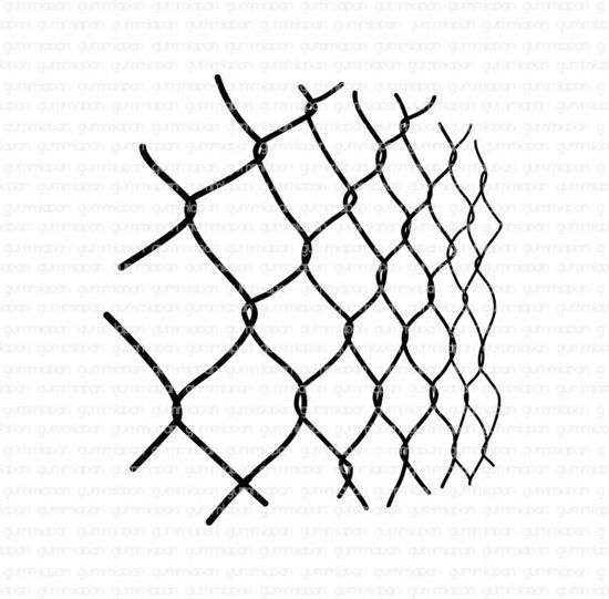 Picture of Fence - stamp - Gummiapan