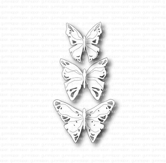 Picture of Kleine vlinderset - stans - Gummiapan