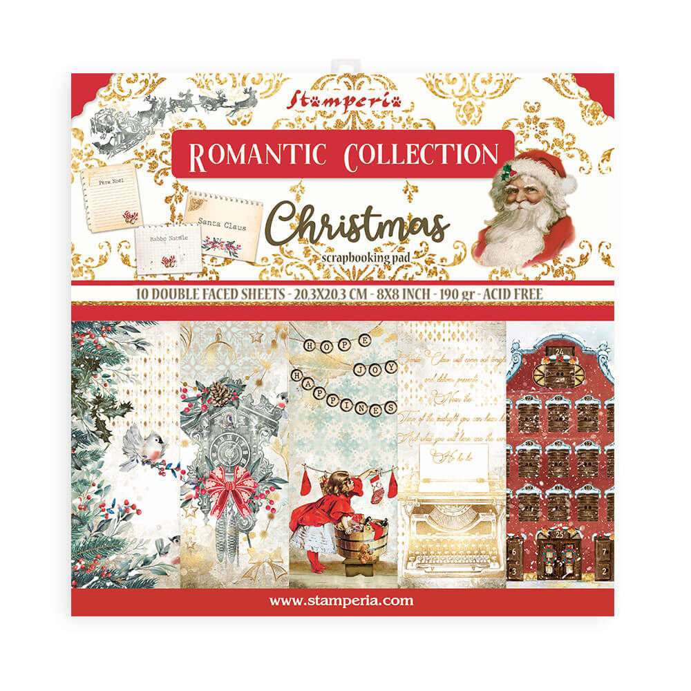 Stamperia Romantic Christmas 8x8 Inch Paper Pack