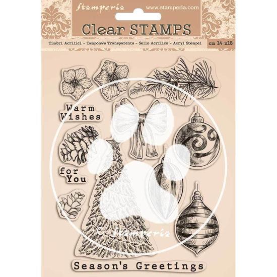 Afbeeldingen van Stamperia Romantic Christmas Clear Stamps