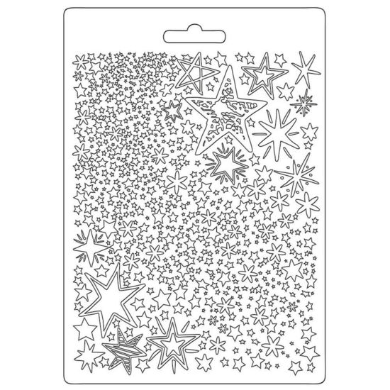 Stamperia Soft Mould A5 Christmas Patchwork Stars