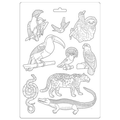 Stamperia Soft Mould A4 Amazonia Animals